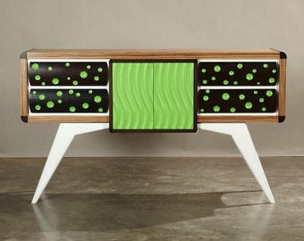 """SALE Modern Credenza, Sideboard, Buffet With Drawers """"The Mulholland"""""""