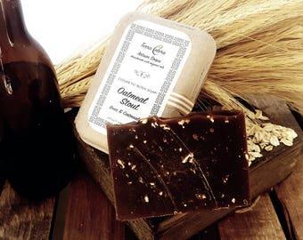 Beer + Oatmeal soap - Oatmeal Stout - 5oz- Organic Oils