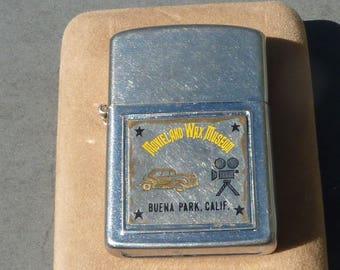 Vintage Beuna Park Calif. Movieland Wax Museum  Lighter Zippo Style (not a Zippo)