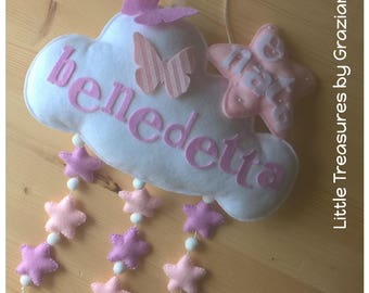 Decoration cloud with starlets pendants