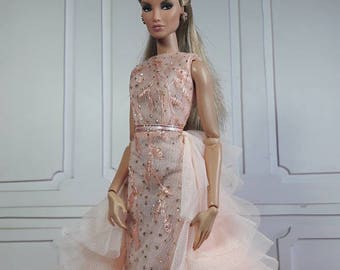 """THE PASTEL GOWN - Fashion for Fr2, Barbie, Silkstone and same size 12"""" doll"""