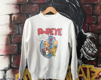 Classic Popeye Cartoon Sweatshirt