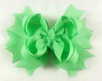 Mint Green Hair Bow/Hair Accessories/Little Girl Hair Bow/Toddler Hair Bow/Tween Hair Bows/Ponytail Bows/Stack Hair Bow/Children Accessories