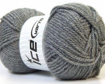acrylic yarn in gray 100grs brand ICE
