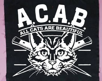 ACAB All Cats Are Beautiful Patch