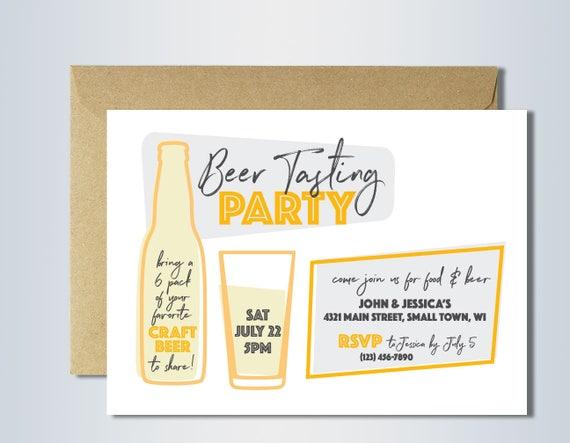 beer tasting invitation printable beer tasting party – Beer Tasting Party Invitations