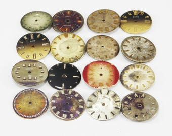 Old mechanical watch dials vintage watch movements for craft old steampunk parts old watch for parts scrapbooking finding DIY scrapbooking