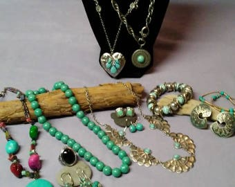 Trendy Vintage And Newer Southwest Costume Jewelry Collection