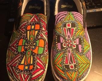 Geometric Cross Shoes
