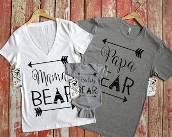 Bear Shirts, Bear Family Shirts, Mama Bear Shirt, Papa Bear Shirt, Baby Bear Shirt, Family Matching Shirts, Mama Bear, Pregnancy Reveal