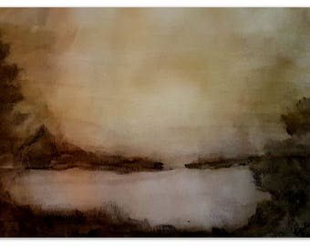 Original Watercolor Sunlight, Instant Digital Download, Wall Hanging, eArtwork Prints