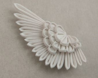 Angel Wing Tsumami Kanzashi Large Bobby Pin / Hermes / Valkyrie / Art Nouveau style