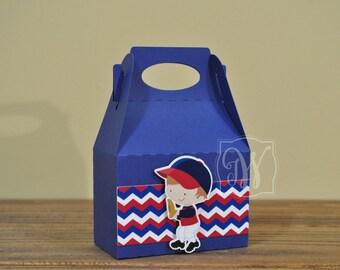 Baseball Treat box - Gable Box - 12 Personalized Baseball Gable Boxes - Baseball Favor Boxes - Baseball Treat Boxes - Baseball Party Favors