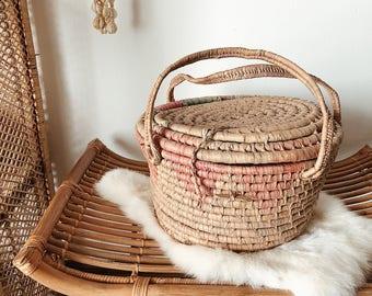 multicolor market basket