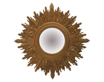 Wood Sunburst Mirror Etsy