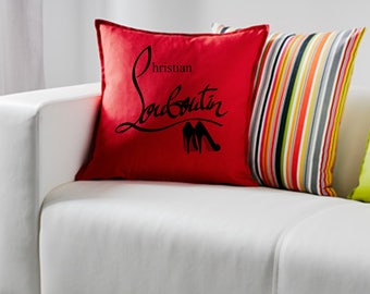 Christian Louboutin ~ designer shoes ~  Cushion Pillow including infill Red