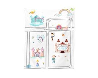 Play Mat, Girl play mat, Fairytale Play mat, Imaginative play mat, Play rug, Princess rug, Wall hanging, Girl room decor, play room rug