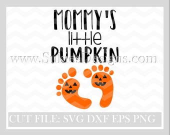 Mommy's little pumpkin SVG File For Cricut and Cameo DXF for Silhouette Studio Cutting File Halloween svg, Girl svg, 1st Halloween svg