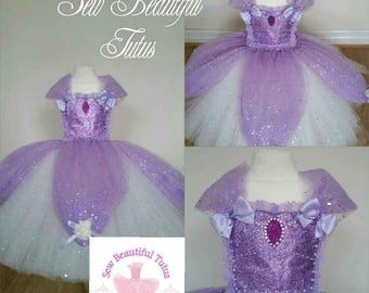 Age 2-3yrs Sofia the 1st Princess Sparkle Ballgown Tutu Dress - Tulle - Party - Photo Shoot  ***Available now***
