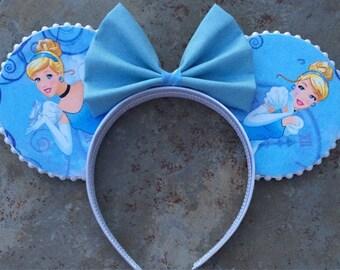 Cinderella Mickey ears!  Cinderella Minnie Ears!  Mickey ears headband