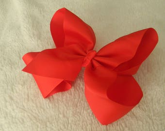 Red JoJo Bow-6inch-Alligator Clip