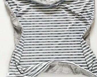 Slate Watercolor Stripe Baby Blanket, Minky Baby Blanket, Grey Blanket, Blue Blanket, Girl Baby Blanket, Boy Blanket, Neutral Blanket, Slate