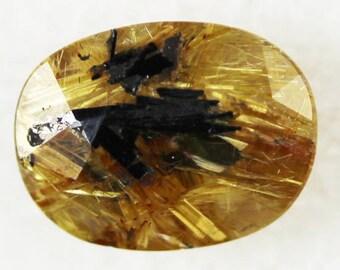 Hematite + Rutil in Quartz 2.90cts Oval Cut 10.40 x 8.00mm g71162 Loose Gem Faceted Gemstone Jewelry Making Rare