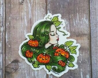 Pumpkin Patch - 3 Inch Halloween themed 3 Inch Die Cut Weatherproof Vinyl Sticker /Decal from Drawlloween /Inktober 2017
