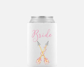 Bride Tribe Can Cooler - Beer Cooler - Bridesmaid Gift - Bride Tribe Drink Cooler -  Bachelorette -  Tribe Beverage Insulator