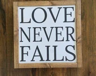 BLEMISH SALE Love never fails