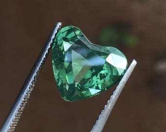 Earth  mined Green zircon