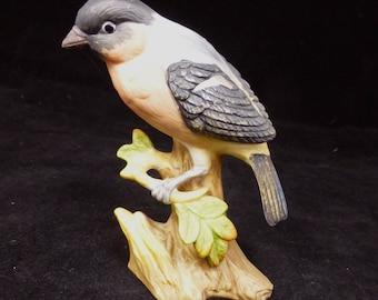 Porcelain Bullfinch Bird Figurine – Matt Bisque Glaze