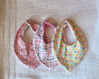 Set of bandanas in cotton and Terry bibs