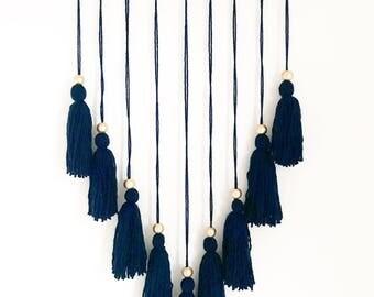 Boho tassel wool hanging