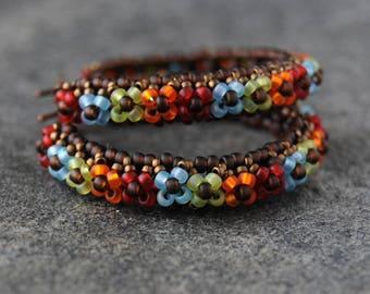 Large flower hoop earrings, Floral hoop earrings, Creole earrings, Bohemian hoops, Boho hoop earrings, Lightweight earrings, Gypsy earrings