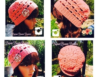 Ladies Beanie Handmade Crochet