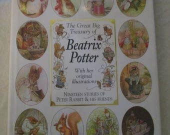 The Great Big Treasury of Beatrix Potter With Original Illustrations Nineteen Stories of Peter Rabbit and Friends (1996)