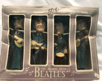 Vintage The Bobb'n Head Beatles Collectible Bobble Heads Figurines