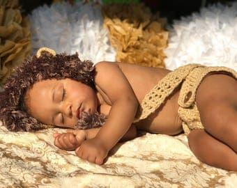Lion Newborn Prop Costume