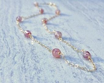 Strawberry Quartz Gemstone Necklace