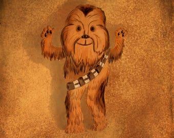 Cute Chewbacca illustration - Giclee Print