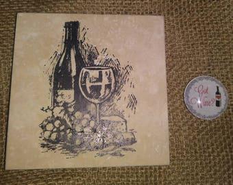 Wine Lover ~ Wine Magnet ~ Wine Coaster ~ Birthday Gift ~ Christmas Gift ~ Wine Coaster & Magnet Set