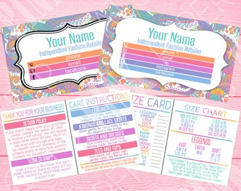 3-in-1 Business Card   Paisley   Choose Sections   Thank You + Returns   My Size Card   Size Chart   Care Instructions