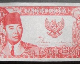 1000 soekarno paper money red (souvenir) 1964 for talisman
