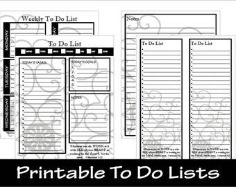 Colossians 3:23 - To Do List Printables including Daily To Do List, Weekly To Do List, Notes, etc. ... Instant Download