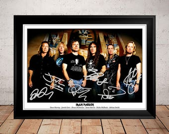 Iron Maiden Band Autographed Signed Photo Print