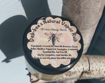 Deb*Bee's Natural Vapor Rub (2oz)