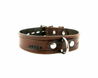 Leather BDSM Collar/ Locking Collar/ddlg Collar/Pet play collar/Mature/Bondage Collar/Slave Collar/BDSM Choker/Sub Collar/Submissive Collar
