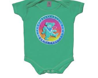 Grateful Dead baby bodysuit-Dancing Bear-Creeper-Onesie-romper.