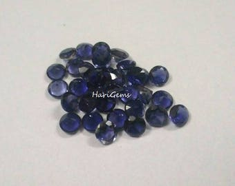 5 Pieces lot 5mm Iolite Faceted Round Loose Gemstone AAA Quality Natural Faceted Iolite Round Gemstone Loose Iolite calibrated gemstone